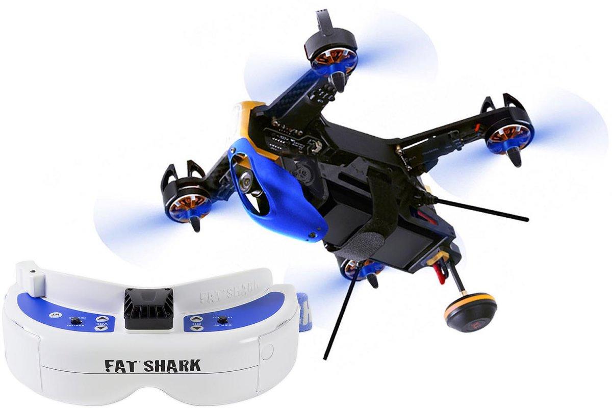 Walkera F210 3D RTF Racing-Quadrocopter mit Videobrille - RC-Drohnen.de